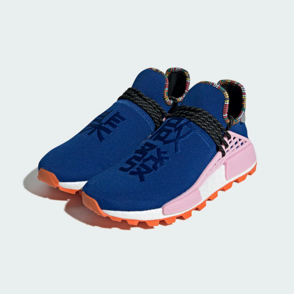 outlet store 3ac30 1a9a4 Pharrell Williams NMD Human Race Inspiration Pack Powder  Blue-Light/Orange-Light